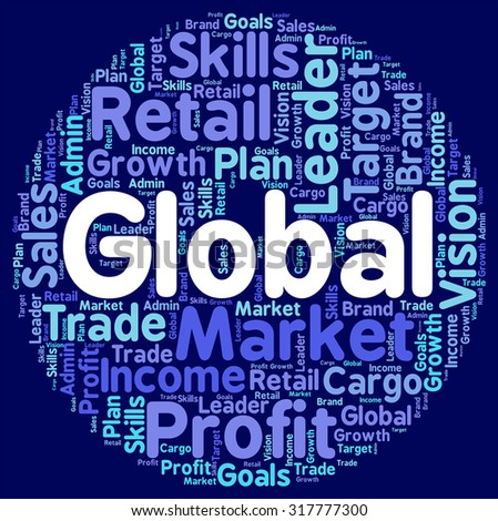 Global Words Representing Worldly Globalize And Earth - stock photo