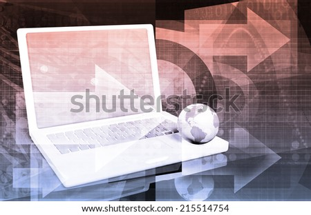 Globalization and Open Market Economy as Technology - stock photo