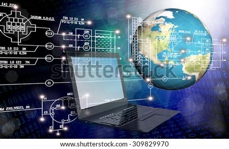 Globalization connection Internet technology.Generation - stock photo