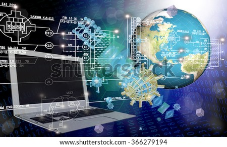 Globalization connection Internet technology.Generation telecommunications innovation technology