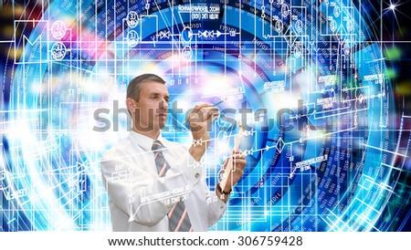 Globalization  engineering  technology - stock photo