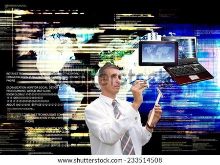 Globalization generation computer technology - stock photo