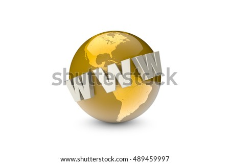 Globalization. International communication system. Creation and promotion of the website (metaphor). Available in high-resolution and several sizes to fit the needs of your project. 3D illustration.