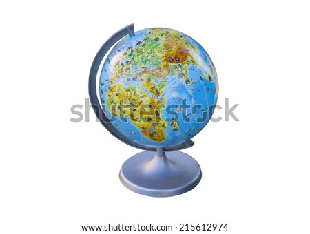 Globe, a replica of the earth to study in schools, colleges and travel - stock photo