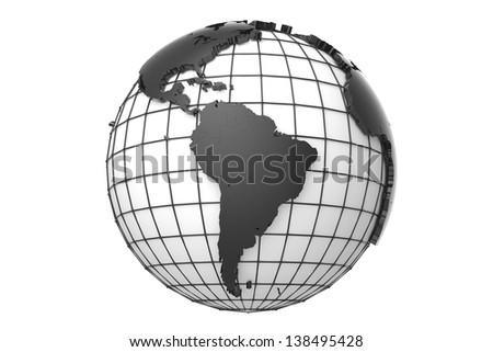 Globe - America - stock photo