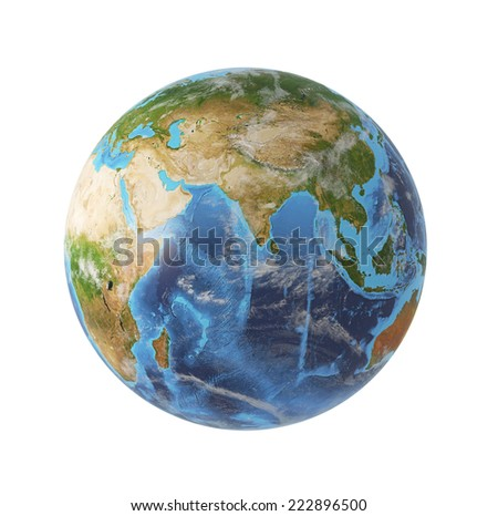 Globe, Asia view. Elements of this image furnished by NASA.