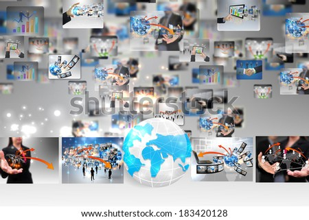 globe business  - stock photo