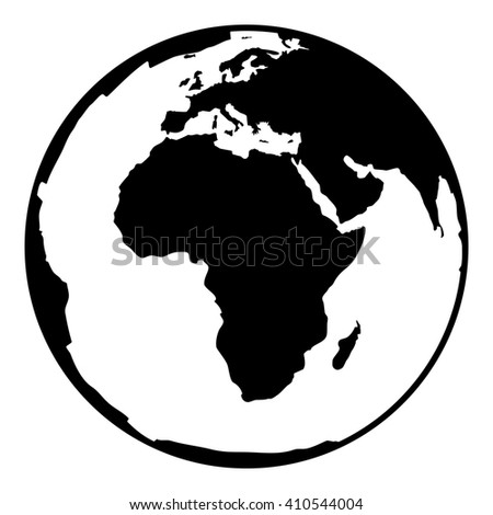Earth drawing black and white