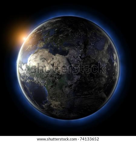 Globe. Earth map from NASA - stock photo