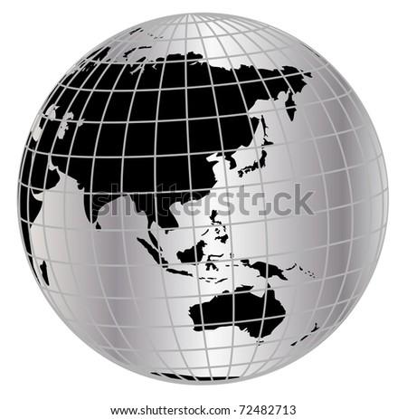 Globe in net - stock photo