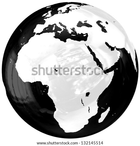 Globe. Isolated on white. 3D - render. Icon. - stock photo
