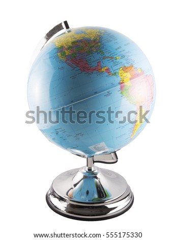 Globe isolated over white background, vertical image