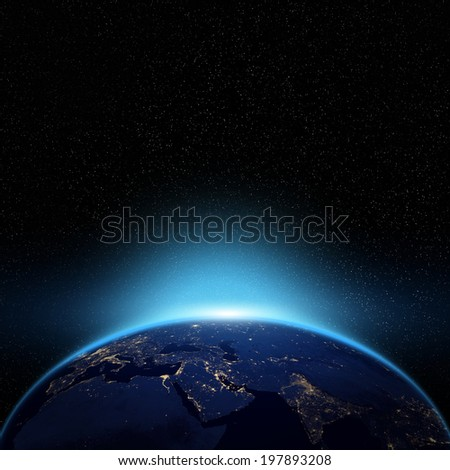 Globe night view Elements of this image furnished by NASA  - stock photo