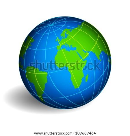 Globe of Earth. Raster version - stock photo