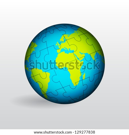 Globe of Earth. Raster version of the loaded vector