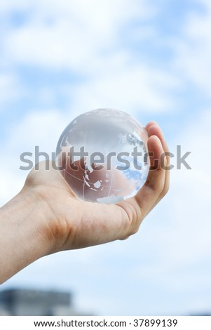 Globe of the lifted glass