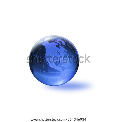 Globe of the World. America