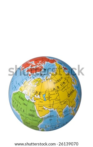 Globe of the world (included path)