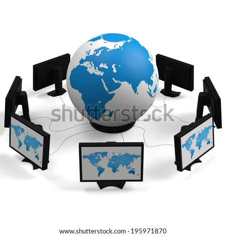 Globe on monitors