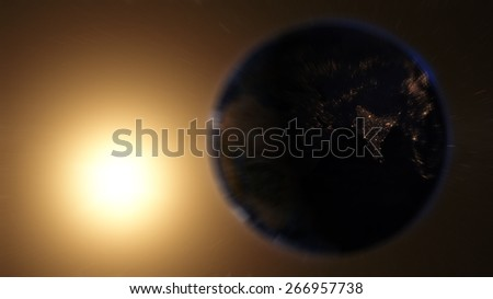 Globe View From Space (Elements of this image furnished by NASA) - stock photo