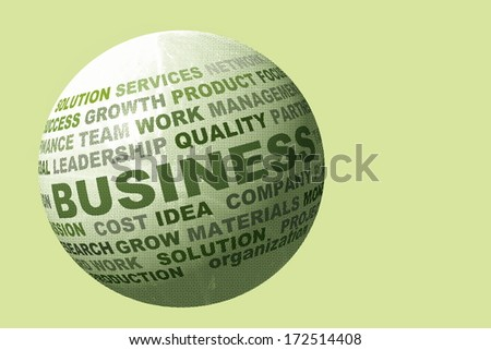 globe with business related words