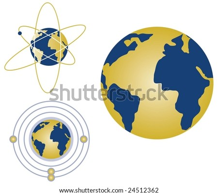 Globes with atoms and energy rings