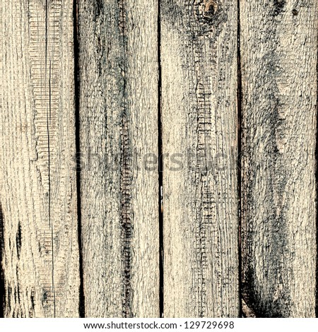 gloomy background of old wooden cracked planks - space for text - stock photo