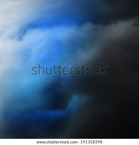 gloomy clouds - stock photo
