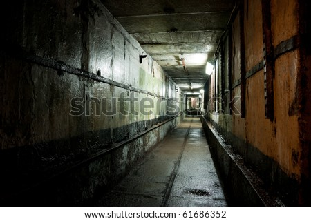 Gloomy picture of the Soviet Union legacy - stock photo