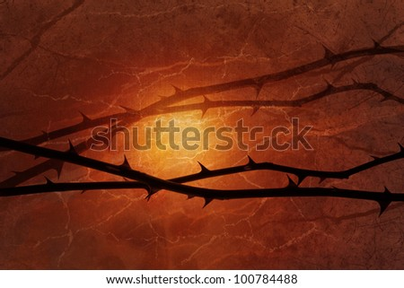 Gloomy rose lines are floating over a warm back light in burned colors. The texture occurs layered from marble surfaces, and original canvas paper. - stock photo