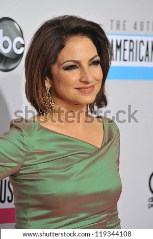 Gloria Estefan at the 40th Anniversary American Music Awards at the Nokia Theatre LA Live. November 18, 2012  Los Angeles, CA Picture: Paul Smith