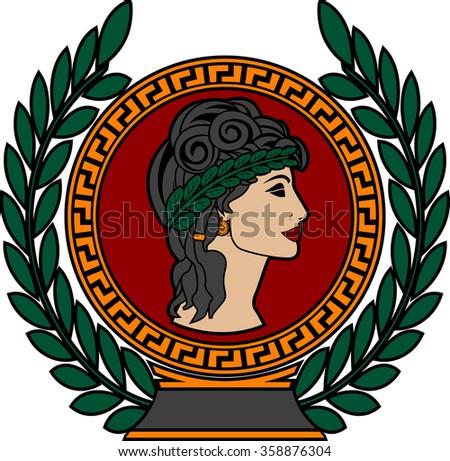 glory of ancient greek woman 3. raster version - stock photo
