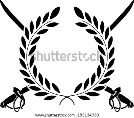 glory of cavalry. stencil. raster version - stock photo