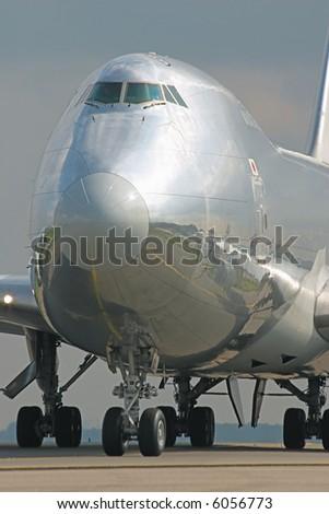 Glossy Boeing 747 - stock photo