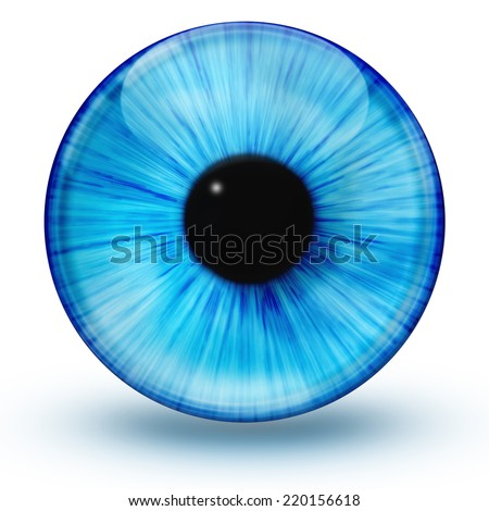 Glossy eye ball  - stock photo