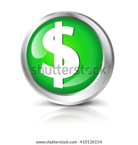 Glossy icon or button with dollar symbol.