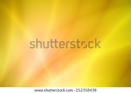 glossy line on vivid yellow abstract background - stock photo
