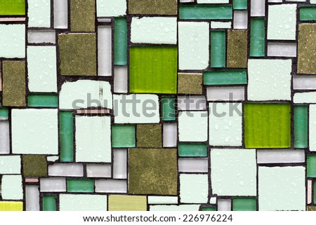Glossy mosaic. Abstract seamless background.  - stock photo