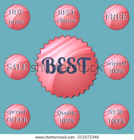 Glossy red round Special Offer stickers.  - stock photo