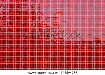 Glossy red tiles small - stock photo