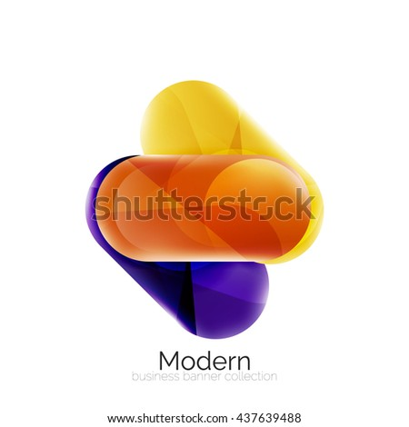 Glossy round buttons infographics background. Blank templates - stock photo