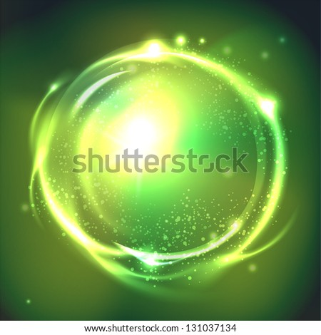 Glossy Sphere. Abstract Background - stock photo