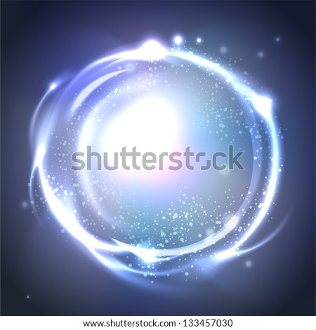 Glossy Sphere. Abstract Background Raster version of vector. - stock photo