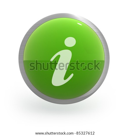glossy spherical web button with metal boarder - stock photo