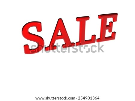 Glossy three-dimensional inscription Sale as a sign. - stock photo