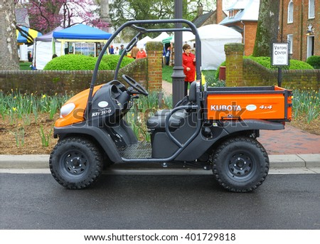 GLOUCESTER, VA - April 2, 2016: A Gloucester Kubota sport utility vehicle at the 
