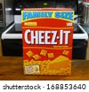 GLOUCESTER, VA - DECEMBER 26, 2013: Cheez-It an American snack food cracker made by the Kellogg Company through the Sunshine Biscuits division. Cheez-It became property of Keebler in 1996. - stock photo