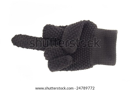 glove with bristling long finger. cutout