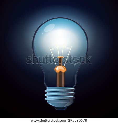 glow lamp isolated on dark background