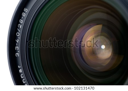 glow of a lens - stock photo
